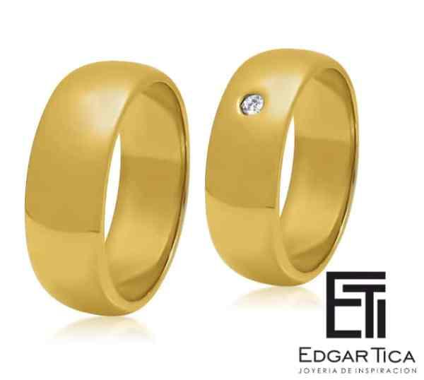 Killa aros de boda oro 18k Edgar Tica joyería peruana online