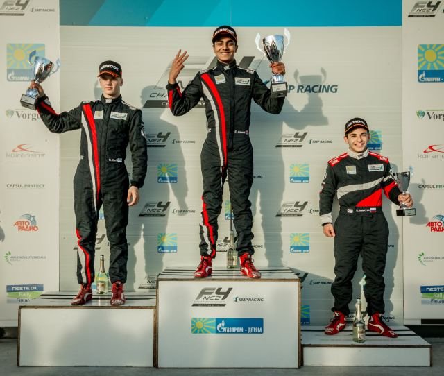 In All Three Races Ahmed Beat Niko Kari The Series Champion Into Second Place As He Competed As A Guest Driver Ahmed Did Not Qualify For Points