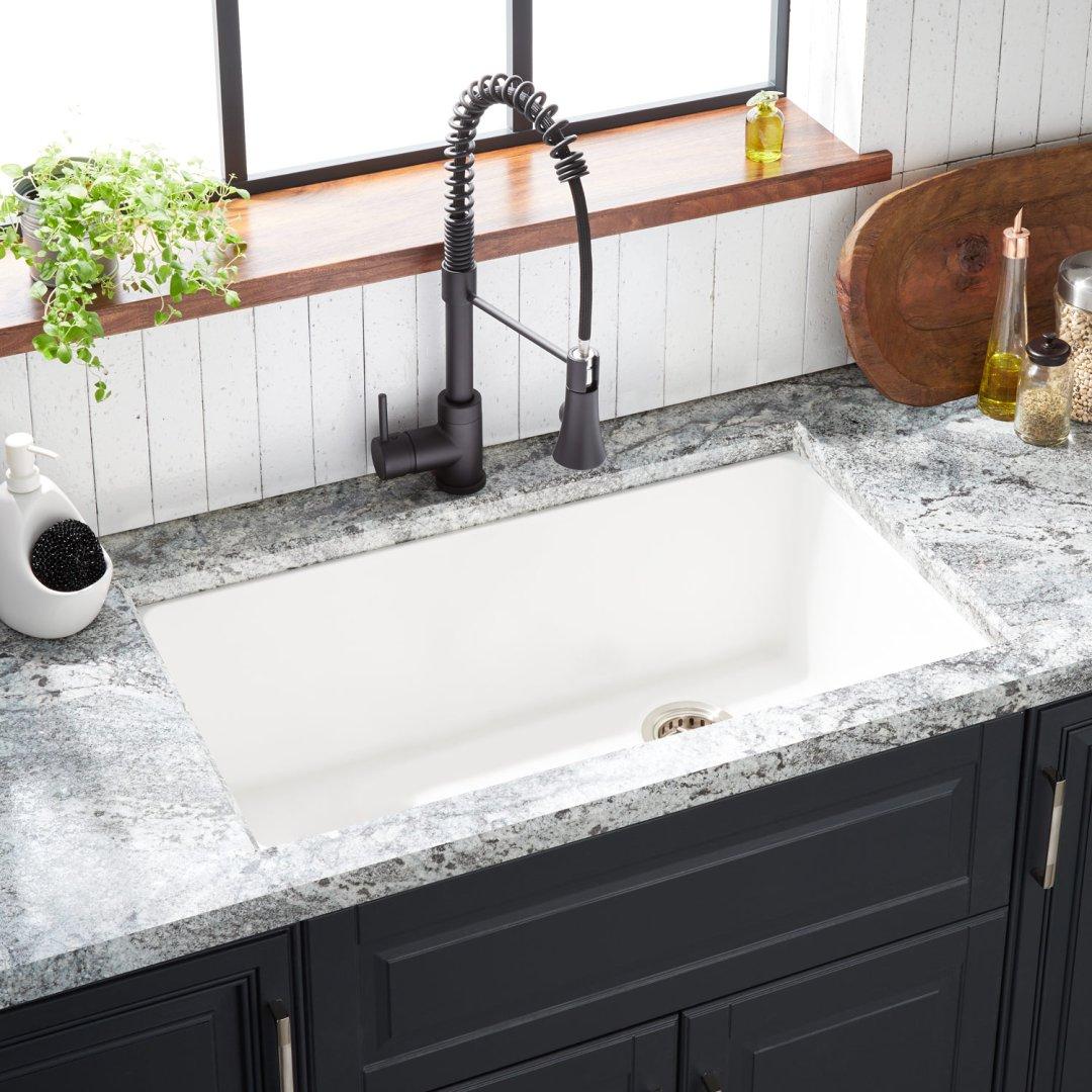 33 totten granite composite undermount kitchen sink white