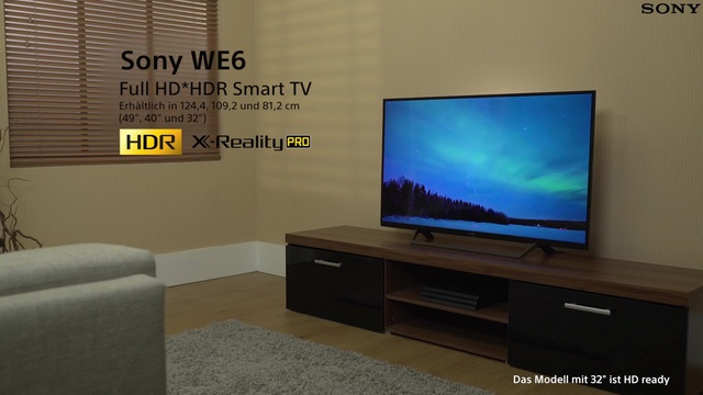 Sony Kdl40we665 Led Fernseher 101 Cm 40 Zoll Full Hd Smart Tv Clear Phase Digital Sound Enhancement Engine X Protection Pro Online Kaufen Otto