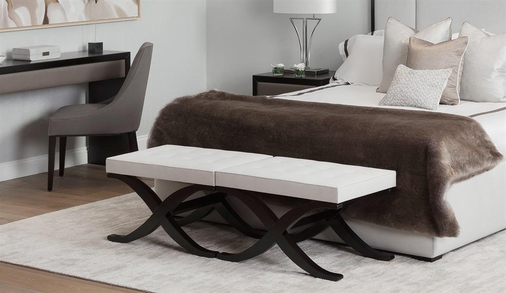 luxury upholstered footstools the
