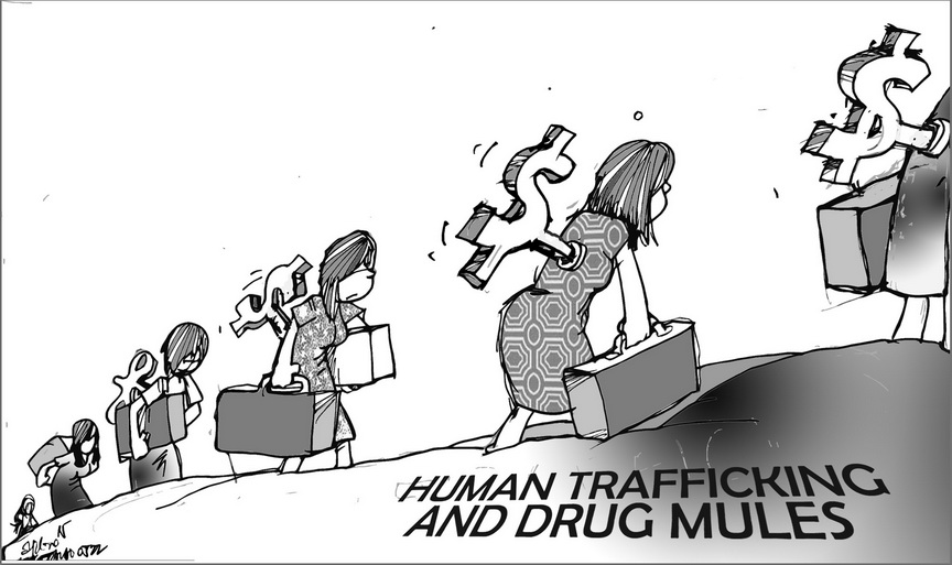 Political Cartoons Trafficking Drug