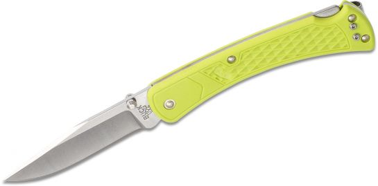 Buck 110 Slim Folding Hunter in Chartreuse