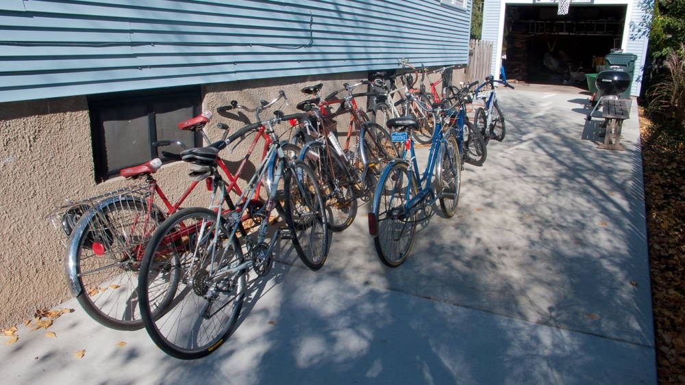 An appropriate number of bicycles (for a family of ten). Photo by Richard C. Keller.