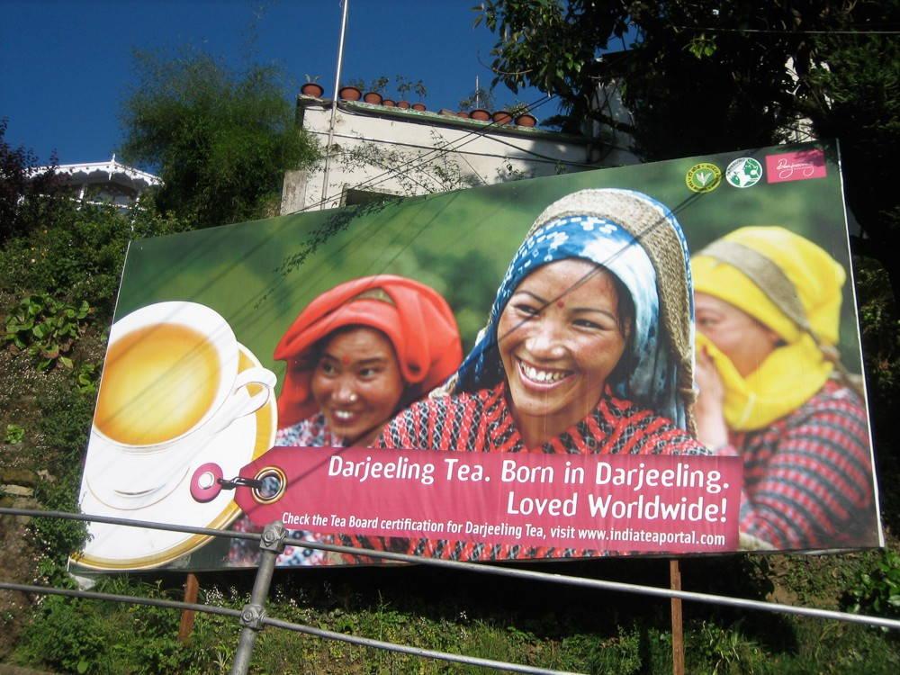 A billboard in Darjeeling, 2008. (Photo by author.)