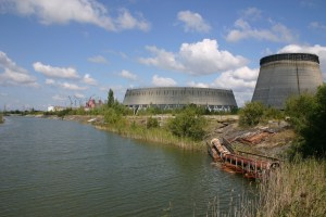 Nuclear power station row in Chernobyl. Photo by Tim Mousseau.