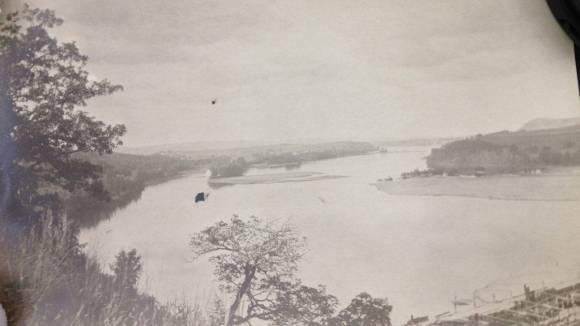 Wisconsin River upstream of dam, 1911. Photo: Frank Eberhart, Courtesy of the Wisconsin Historical Society.