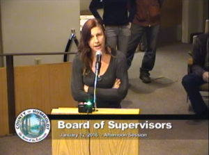 """A cannabis grower petitions the County of Humboldt Board of Supervisors during public comment on coastal zoning regulations, January 12, 2016. Screenshot from Humboldt County <a href=""""http://humboldt.granicus.com/MediaPlayer.php?view_id=5&amp;clip_id=1007"""" target=""""_blank"""">meeting video</a>."""