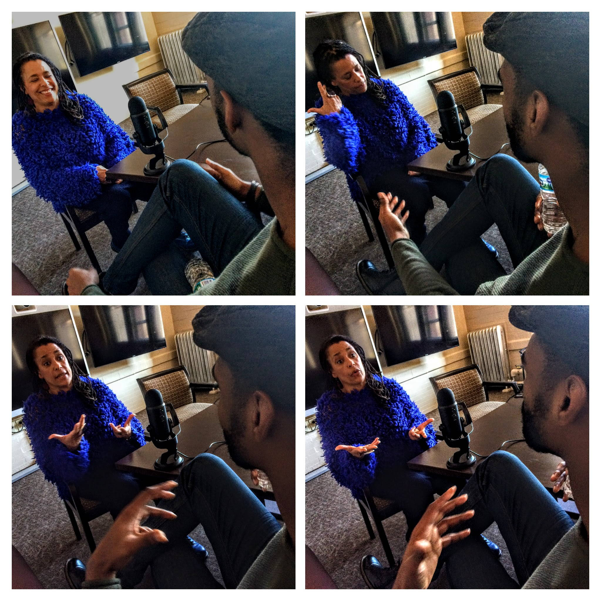 Carolyn Finney speaking with Dantrell Cotton, December 2016. Photos by Brian Hamilton.