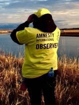 An observer from Amnesty International. Photo by Gary Kmiecik, November 2016.