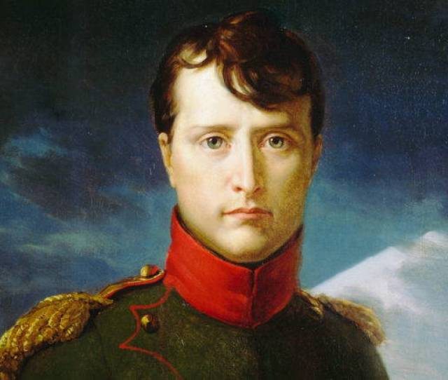 A Portrait Of A Young Napoleon Bonaparte In Military Dress Starting At The Viewer With A