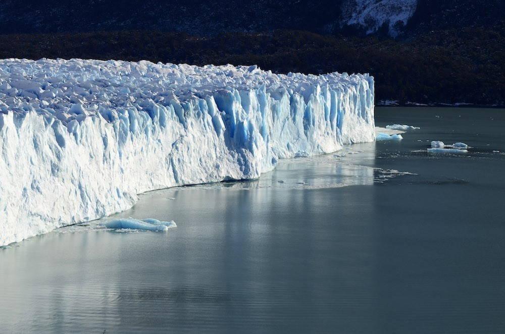a large glacier's edge