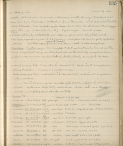 A page of hand-written text showing Aldo Leopold's phenological notes.