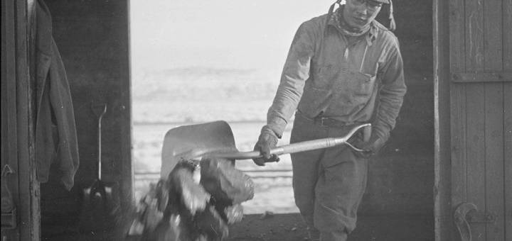 Coal worker at Heart Mountain Relocation Center, Wyoming