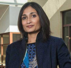 A headshot portrait of Malini Ranganathan.