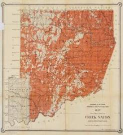 Map showing progress of allotment in the Creek Nation