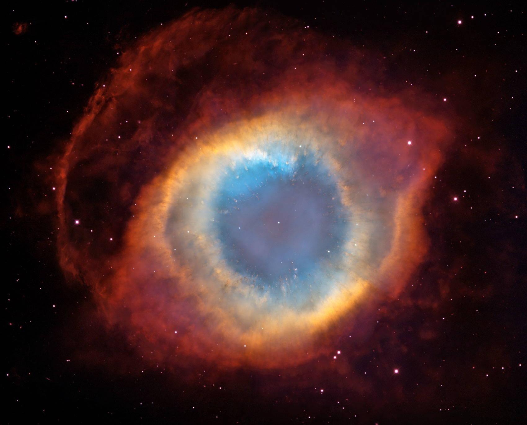A composite image of a nebula