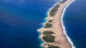 aerial view of Jaluit Atoll Lagoon, Marshall Islands