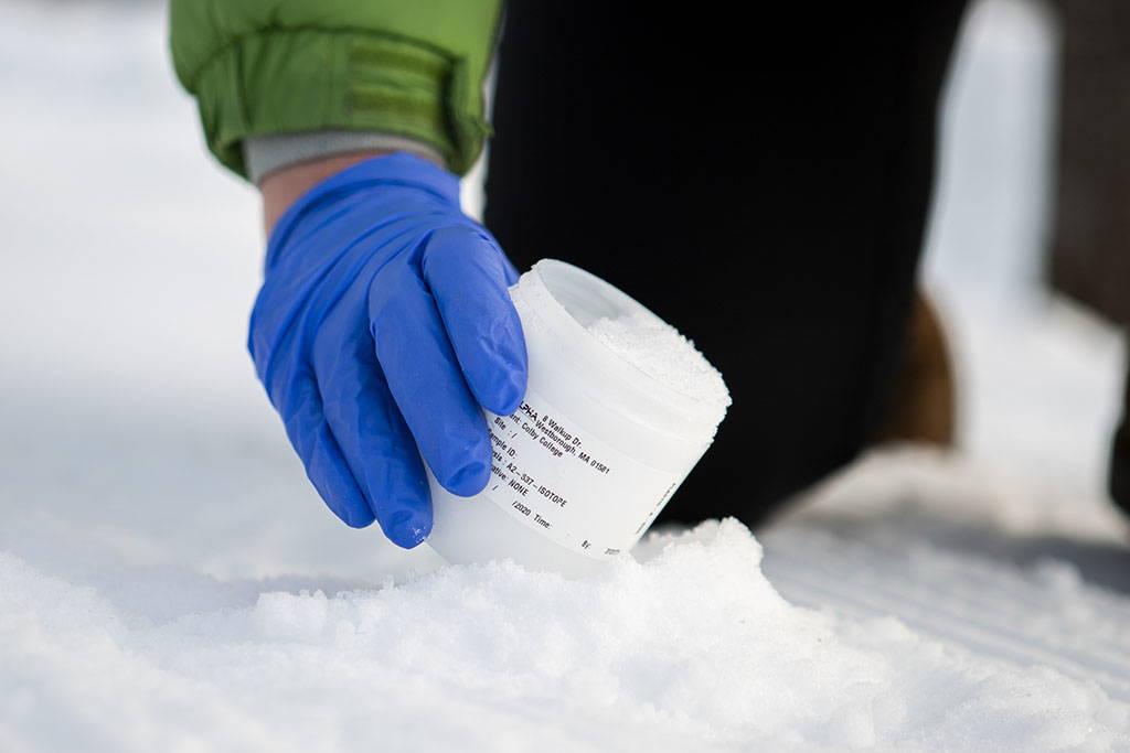 Snow sampling