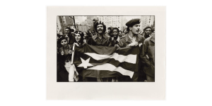 The Young Lords march to the UN with the Puerto Rican flag