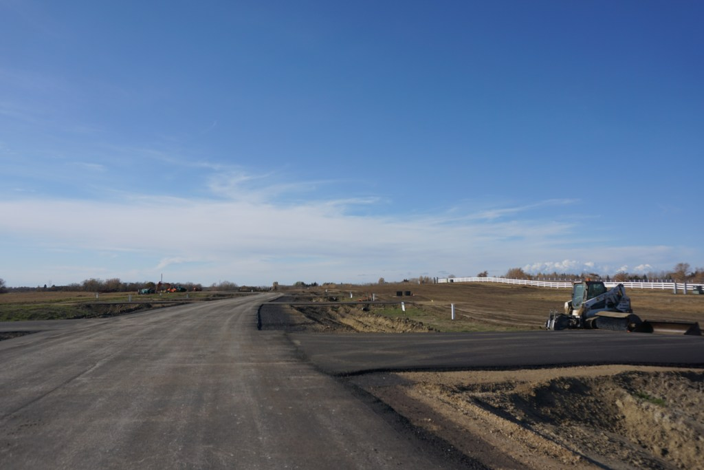 Paved roads and approaches complete