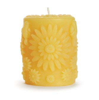 Beeswax Floral Candle