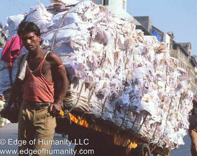 India - Man Transporting Goods.
