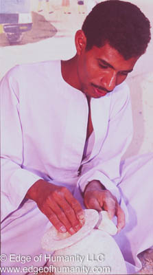 Alabaster Craftsman in Egypt.