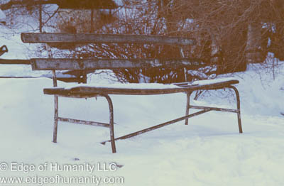 Park bench, Romania