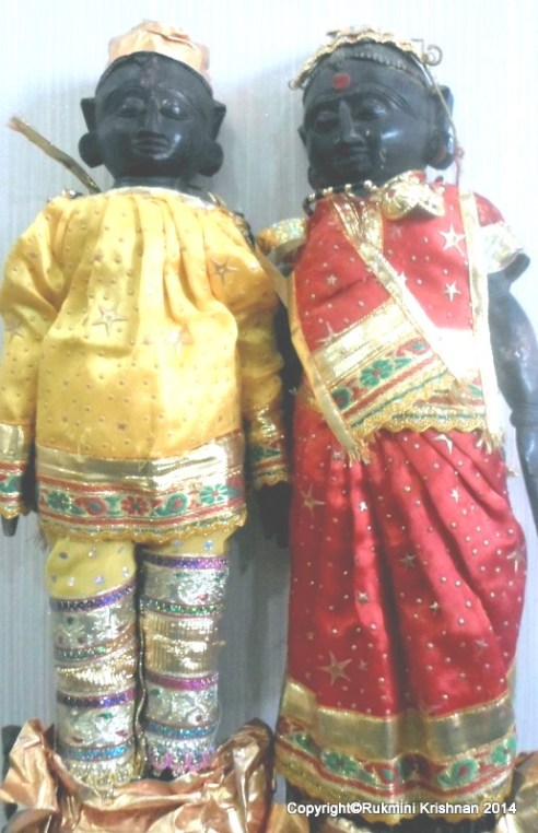 Marapachi Dolls representing Lord Vishnu and Goddess Lakshmi