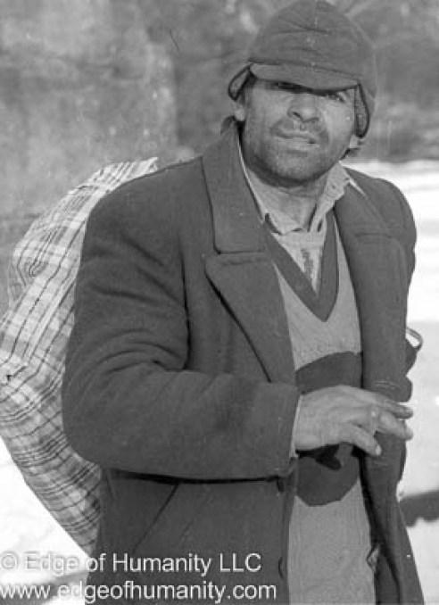 Man carrying a bag - Romania
