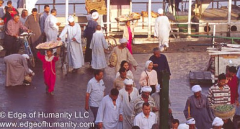 People boarding Egyptian Ferry.