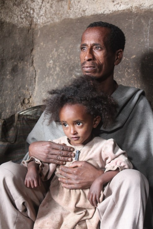Father and daughter, Debark, Ethiopia