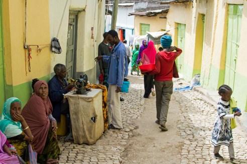 Sewing-machine street , Oldtown Harar, Ethiopia