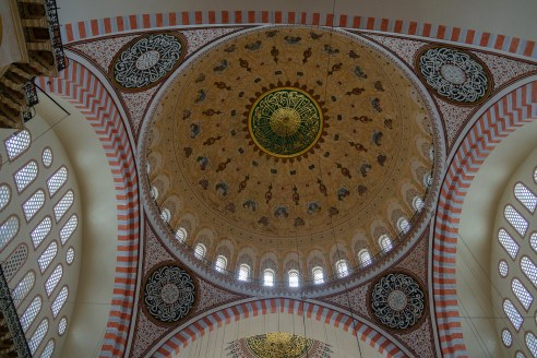 Süleymaniye Camii - the central dome above the prayer hall.