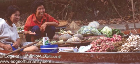 Damnoen Saduak Floating Market - Thailand.