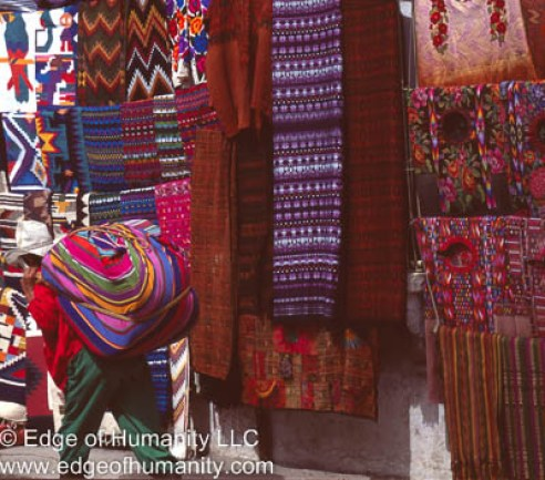 Textiles from Guatemala.