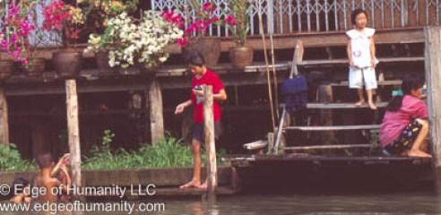 Around Damnoen Saduak Floating Market in Thailand