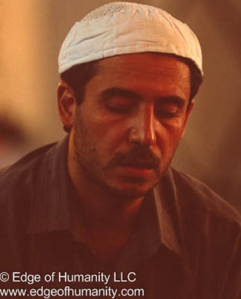 Man in the Umayyad Mosque, Damascus, Syria.