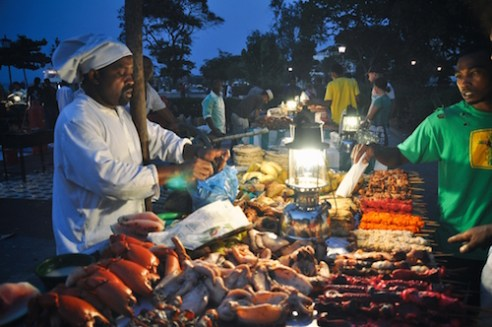 Forodhani Night food market, Stone Town, Zanzibar