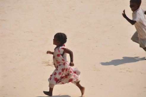 Playing on the beach, Kizimkazi, Zanzibar