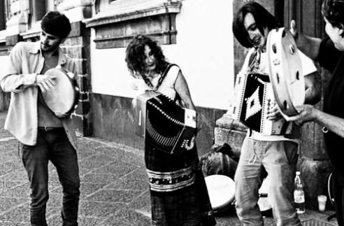 """Street musicians playing Tarantella"" Catania, Italy"