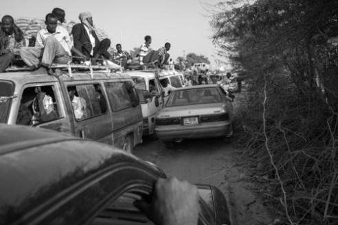 Midday traffic. Mogadishu, Somalia