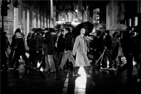 Soho rain London, England