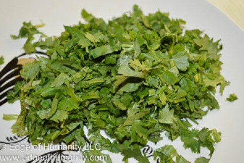 chopped cilantro