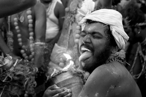 The freezing seconds Dhasara festival, Kulasekaran Pattinam, India