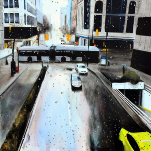 """Regardless"", acrylic on canvas, 2014"