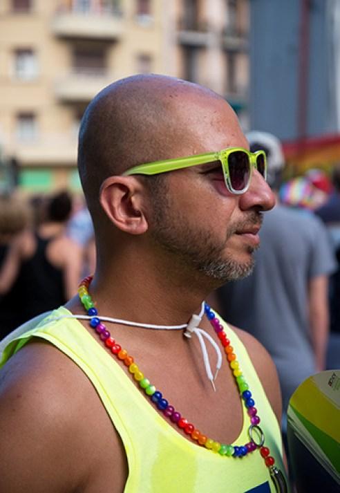 Pride Parade 2014 participant in Barcelona.