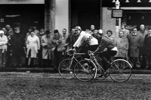 Bicycle race in couple. Le Havre - France (1975)