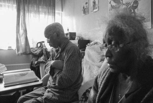 Keeping company. Hestelle - a full time carer for her husband Alexander who had been diagnosed with Dementia . Rainham, UK.
